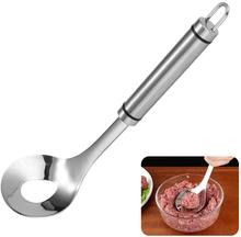 Stainless Steel Meatball Maker Meatball Spoon Long Handle Non Stick DIY Meatball Scoop Ball Maker for Kitchen Meat&Poultry Tools non stick meat baller spoon with long handle stainless steel meatball maker press meatball scoops meat ball maker kitchen tool