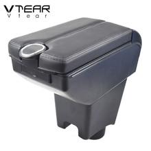 Vtear For Dacia Renault Sandero Armrest Interior Center Console Arm Rest Storage Box Accessories Car Styling Parts 2018 2017