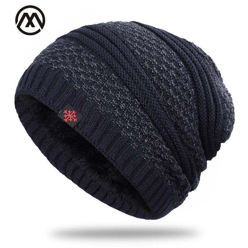 2019 Men's Hat Winter Plus Velvet Men And Women Label Cotton Hat Outdoor Warm Knit Hat Casual Fashion Thick High Quality Cotton