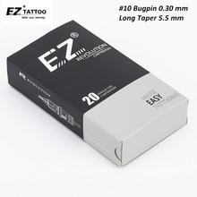 EZ Cách Mạng Hộp Mực Kim số 10 Bugpin (0.30mm) dài Côn Tròn Lót Hình Xăm Kim cho Hộp Mực Máy Cầm 20 cái/hộp