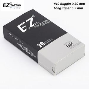 Image 1 - EZ Revolution Cartridge Needle #10 Bugpin (0.30 mm) Long Taper Round Liner Tattoo Needles for Cartridge Machine Grips 20 pcs/Box