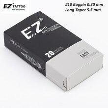 EZ Rivoluzione Cartuccia Dellago #10 Bugpin (0.30 millimetri) lungo Cono Round Liner Aghi Per Tatuaggio per la Cartuccia Prese Della Macchina 20 pz/scatola