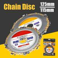 125MM 9 tooth / 115MM 8 tooth Chain Plate Wood Carving Disc Cutting Piece Woodworking Slotted SawBlade for Angle Grinder