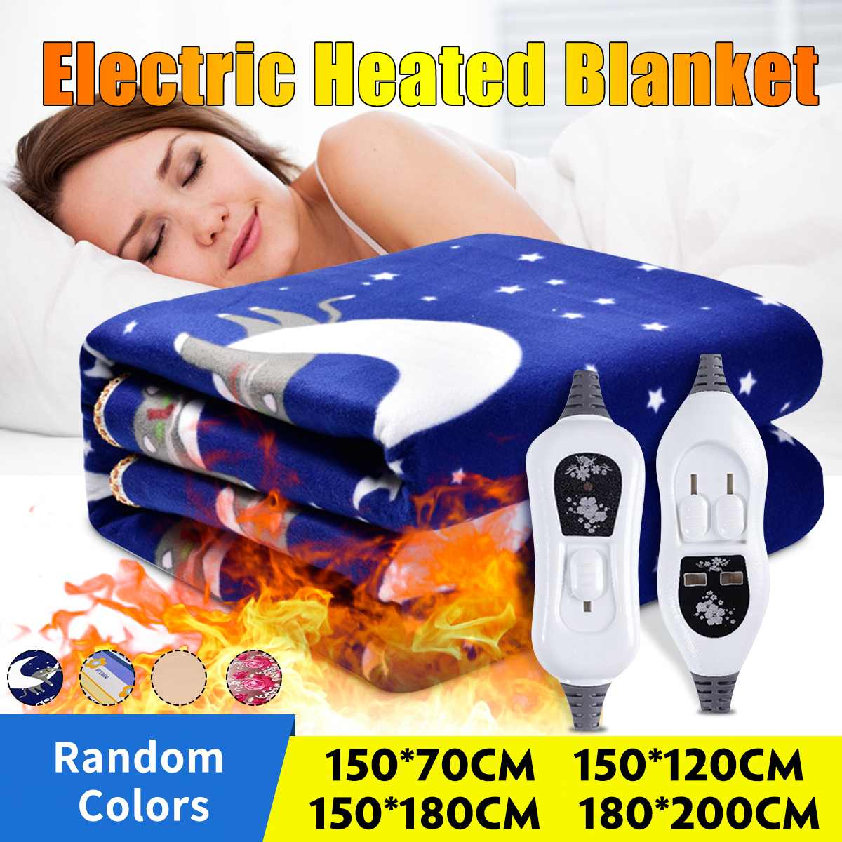 180*200CM 220V Automatic Electric Heating Thermostat Throw Blanket Double Body Warmer Bed Mattress Electric Heated Carpets Mat
