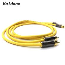 Haldane Pair LITON Gold Plated RCA Audio Cable 2x RCA Male to Male Interconnect Audio Cable with VDH Van Den Hul 102 MK III viborg audio tiwn link rca interconnect cable 1m