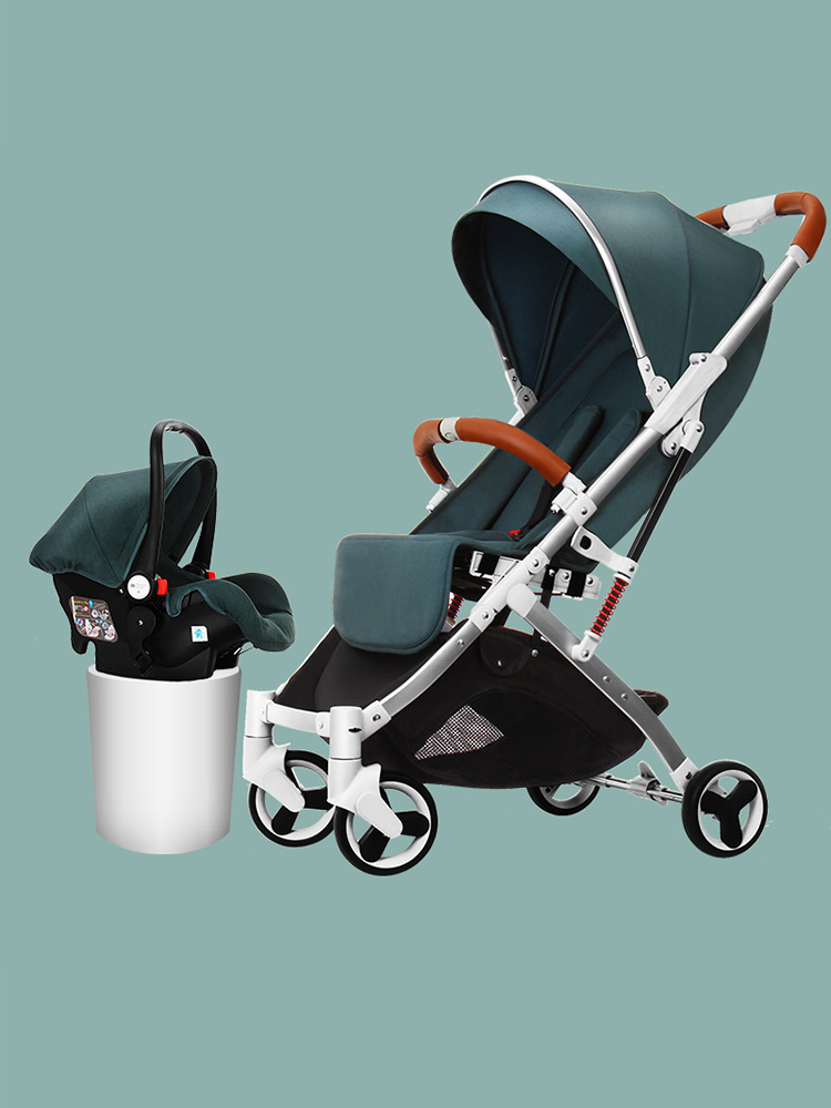 Baby Stroller Can Sit And Lie Down, Super Light Folding Shock Proof, Simple Pocket, Baby's Umbrella Cart