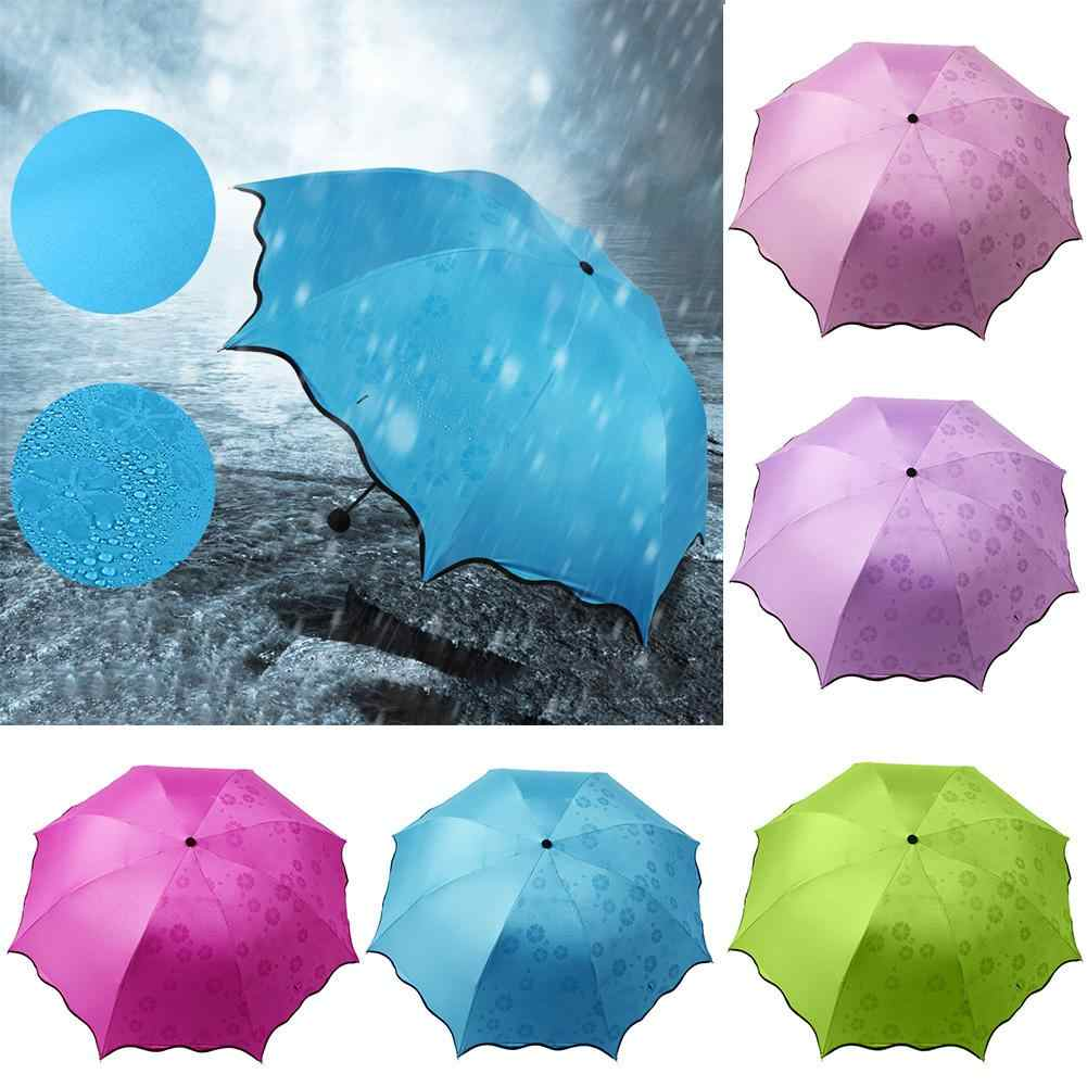 Durable Waterproof Portable Folding Rain Sunlight Umbrella Travel Anti-UV Summer Parasol