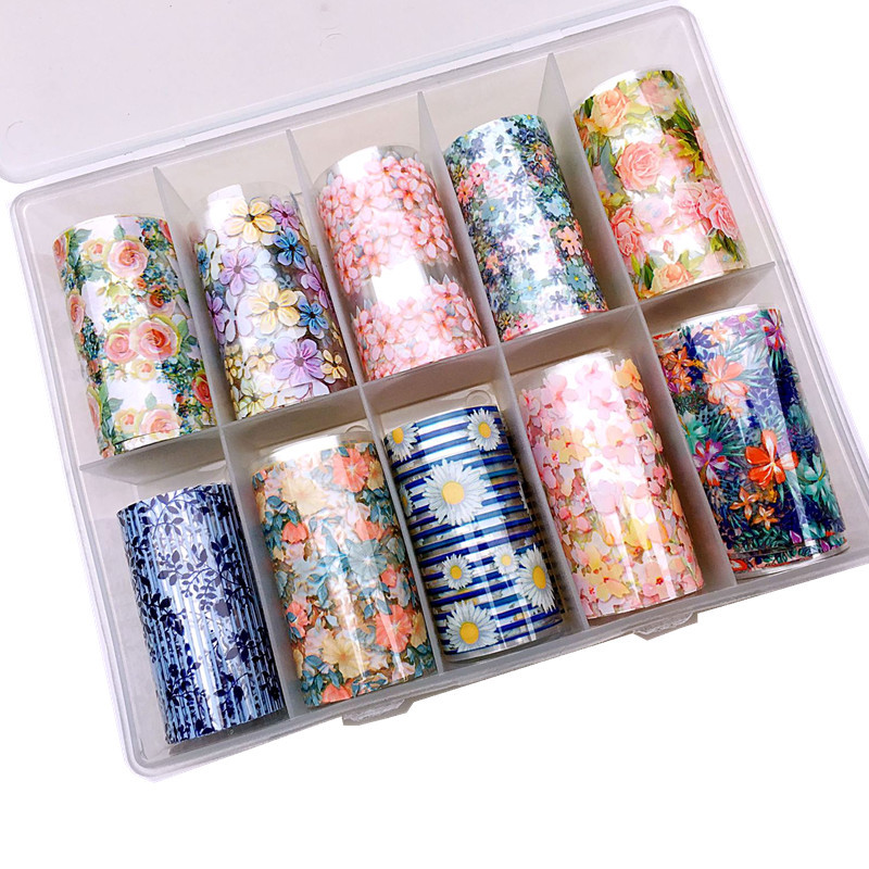Manicure Boxed Star Stickers Japanese-style Flower Star Transfer Stickers Transfer Star A 4*100 Cm 10-