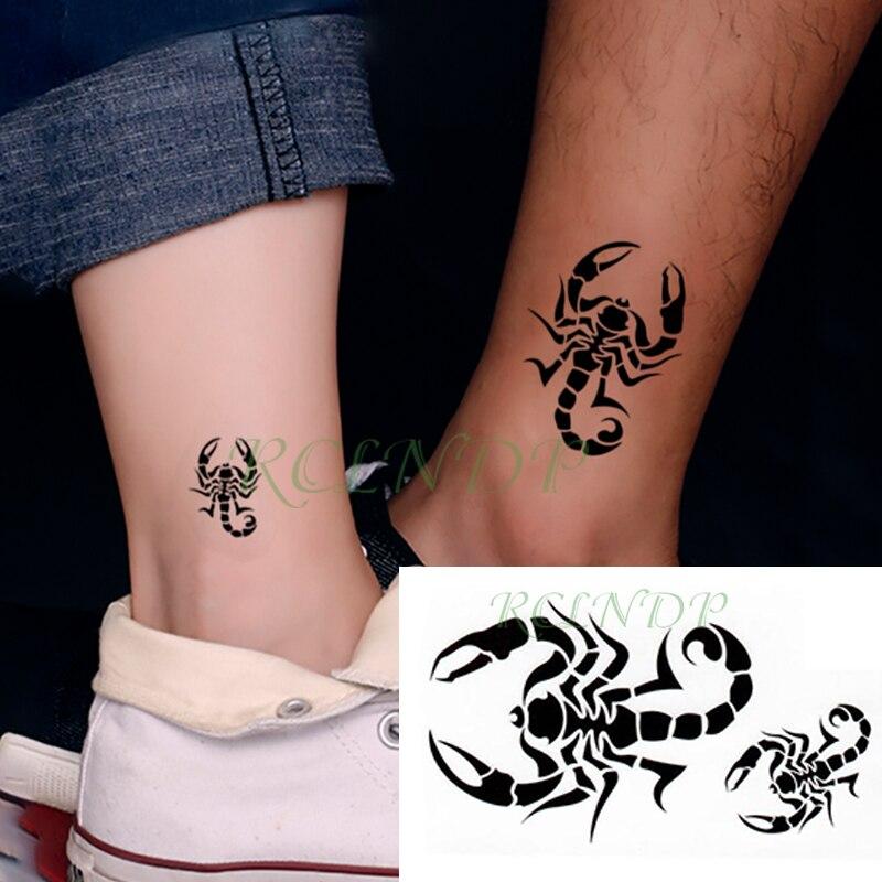 Waterproof Temporary Tattoo Sticker Scorpion Bird Small Tatto Flash Tatoo Fake Tattoos Hand Leg Arm For Kids Men Women Child