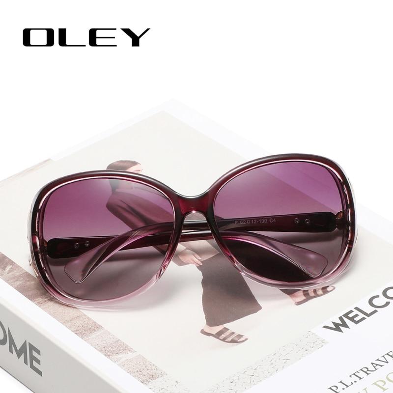OLEY Butterfly Sunglasses Oculos-De-Sol Vintage Shades Women Polarized Fashion Ladies