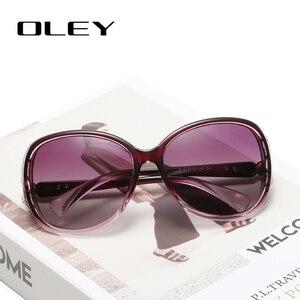 Женские солнцезащитные очки-бабочки OLEY, черные поляризационные очки в винтажном стиле, с защитой от ультрафиолета UV400, 2019