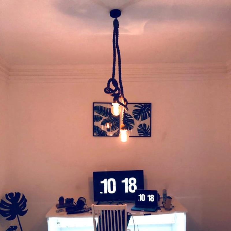 cheapest Loft Vintage Hanging Lamps Iron Cage Pendant Lights Retro Home Deco Suspension Luminaires Kitchen Light Fixtures Bar E27 Lights