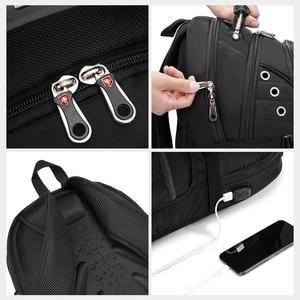 Image 5 - 2020 Waterproof 17 Inch Laptop Backpack Men USB Charging Travel Backpack Women Oxford Rucksack Male Vintage School Bag mochila