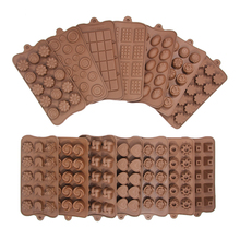 New Silicone chocolate mold 15 Shapes 3D Chocolate baking tools Jelly and Candy DIY rose fruit fondant Kitchen gadgets good