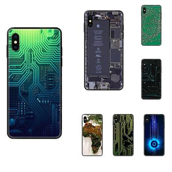 Computer Battery Circuit Board TPU Cell Case For Samsung Galaxy Note 4 8 9 10 20 Plus Pro Ultra J6 J7 J8 M30s M80s 2017 2018 image