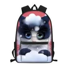 Haoyun модный детский холщовый рюкзак с рисунком кошки из мультфильма