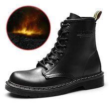 Women Boots Female Winter Shoes Women Ankle Boots Genuine Leather Boots For Martin Boots Warm Fur Bota Women Booties Botas Mujer(China)
