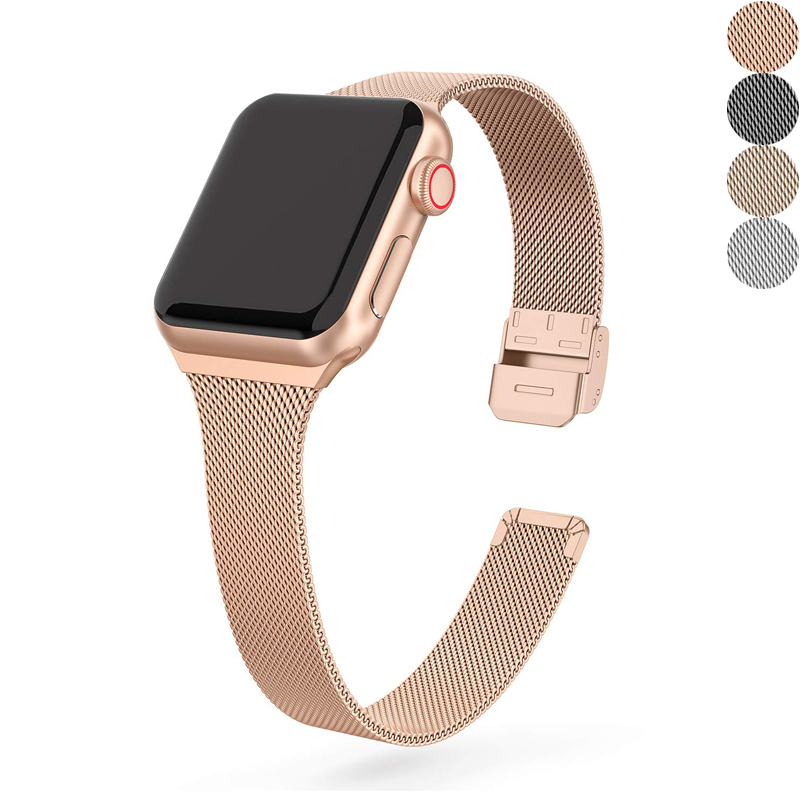 watch accessories strap for Apple watch series 5/4/3/2/1 iwatch apple watch 40mm 38mm milanese loop bracelet 40 mm 38 mm