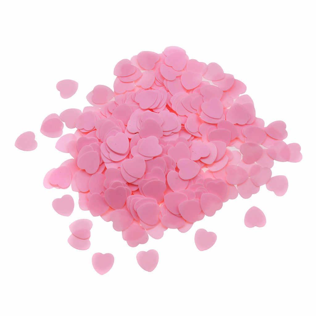 Snowflake konfetti 1000 sztuk/zestaw DIY akcesoria w kształcie serca ślub rzucanie konfetti wystrój stołu czerwony dywan posypać konfetti