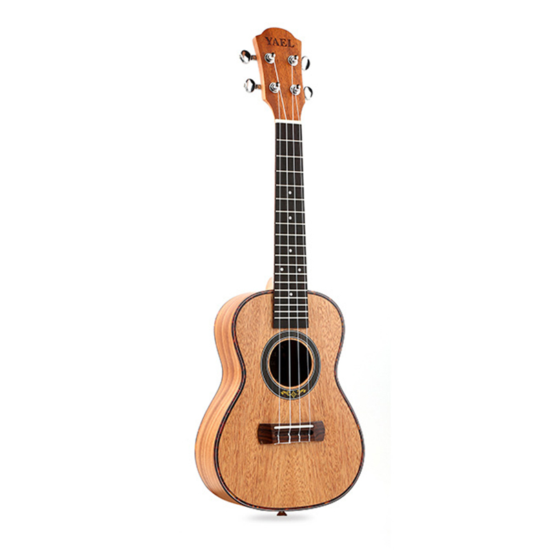 Concert Ukulele 4 Strings Mahogany Guitar 23 Inch Soprano Ukulele Beginner Rosewood Fretboard Bridge For Musical Stringed Inst