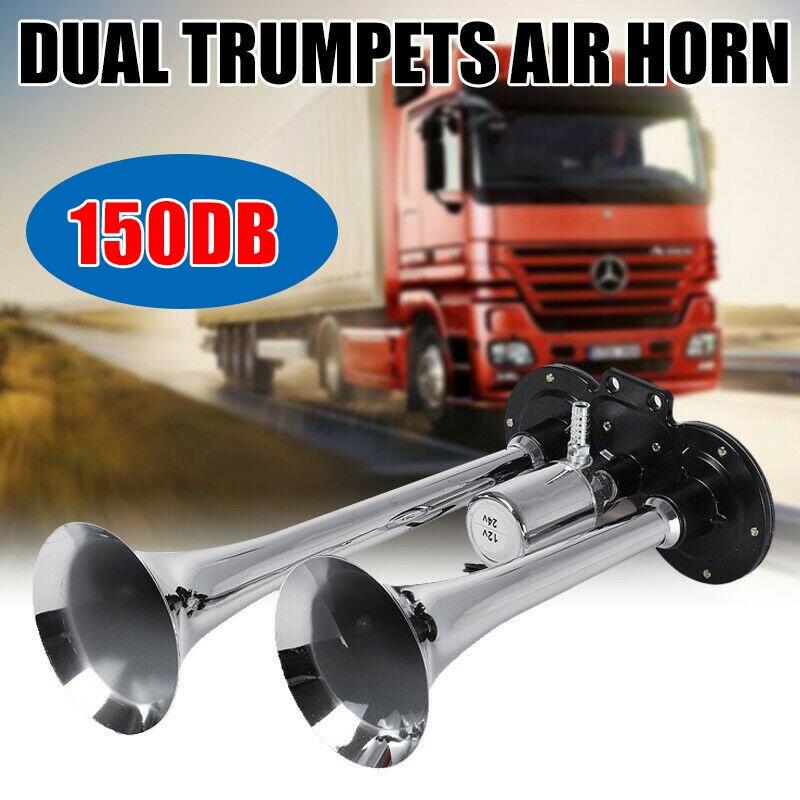 Новый 150DB 12V 24V двойной Громкая труба воздушный рожок для автомобиля, грузовика, RV поезд лодку грузовик M8617