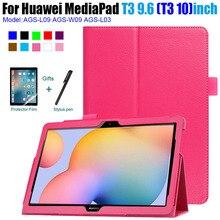 Чехол для Huawei MediaPad T3 10 из искусственной кожи с подставкой для Huawei T3 9,6 AGS-L09 AGS-L03 AGS-W09 для планшета
