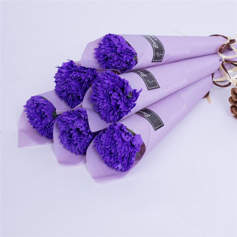 Мыло цветок розы искусственный цветок букет многоцветная Роза свадебный цветок украшение Скрапбукинг искусственный цветок Роза - Цвет: purple 1pc