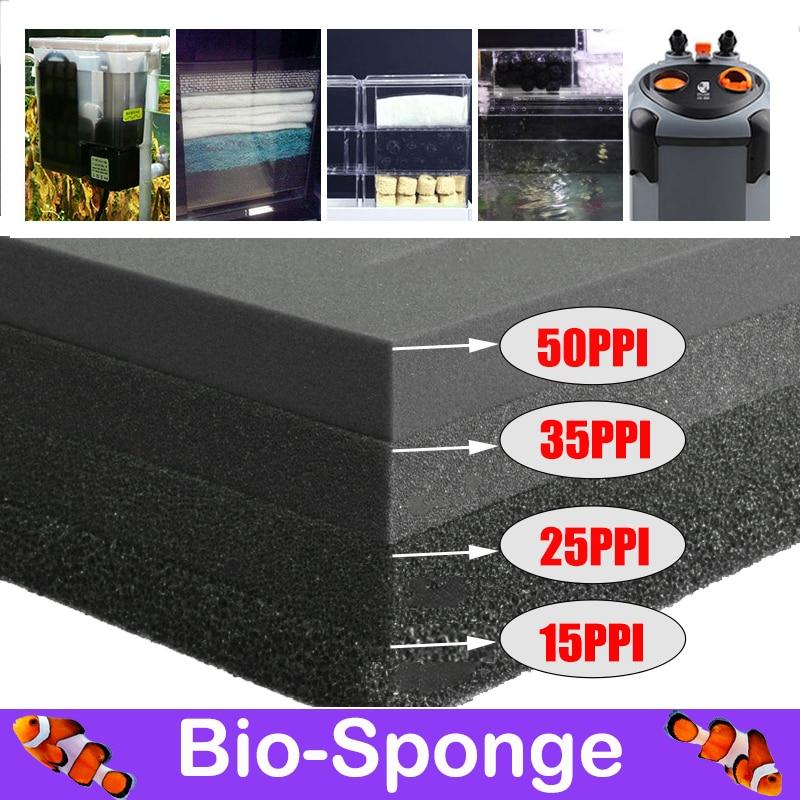 Аксессуары для аквариума Биохимический хлопковый фильтр практичный садок для рыбы пруд пенный Губчатый Фильтр черные размер 15 лист длины 25...