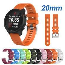 Horlogeband Voor Horloge Band Garmin Vivoactive 3 Voor Garmin Forerunner 245 245M 645 Muziek Zachte Siliconen Smart Horloge Accessoires