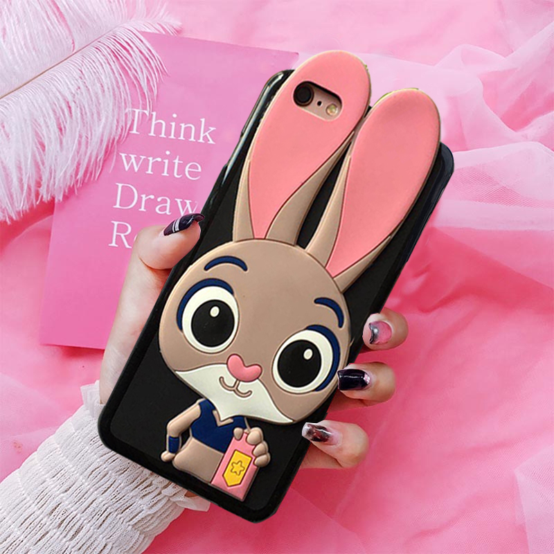 3D Cartoon Case Soft Silicone Rabbit Cover for Xiaomi Mi 9T Pro A2 Lite A1 5X 6X 5 Prime 5C Note 2 3 Black Shark Play Coque