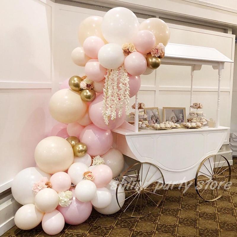 20/50 pçs macaroon rosa branco látex balões 5-36 Polegada aniversário de casamento dia dos namorados festa de aniversário decoração helium globals