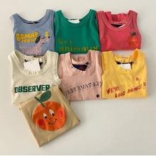 Baby Girl Boy t shirt Casual Sleeveless Summer Tops Cotton Tees 0-2Y