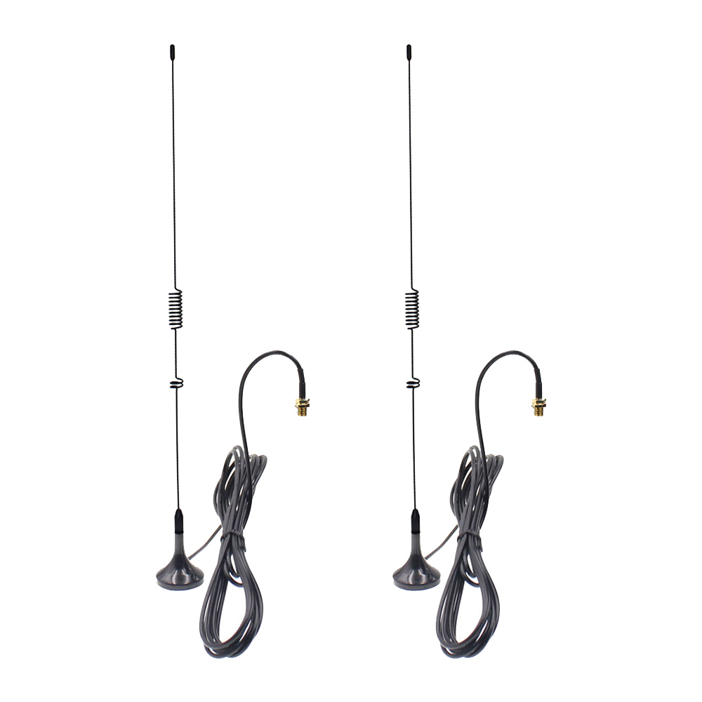 2pcs UT-106 UV Dual Band Whip Antenna With Magnetic Base SMA-F/SMA-M/BNC Connector For ALL Types Of Two Way Radio