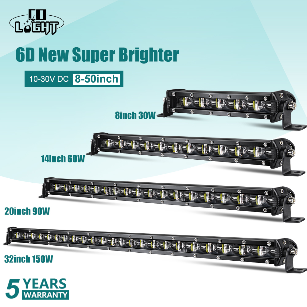 CO LIGHT Super Bright LED Light Bar 6D 8-50inch Offroad Combo Led Bar For Jeep Truck 4x4 SUV ATV Niva 12V 24V Auto Driving Light