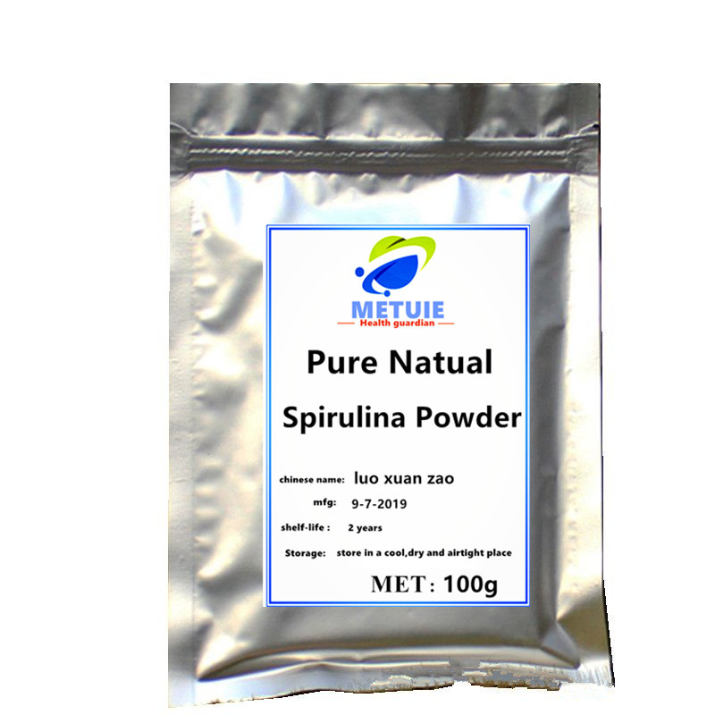 Pure Natual spirulina Powder festival glitter health supplements protein sequins on the face able to nourish and cure the skin. image