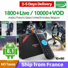 Arabic IP TV Box Leadcool Pro RK3229 Android 8.1 1G RAM+8G ROM QHDTV Subscription IPTV French Dutch Belgium Code Decoder