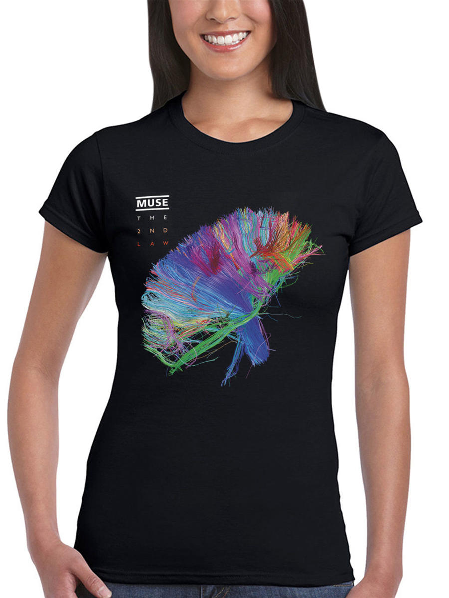 Muse The 2nd Law Packshot Women's Tops Tee T Shirt Song Titles Spectrum Hard T-Shirt Latest new style image