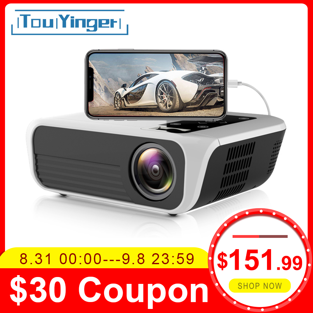 Touyinger Home Cinema Beamer Native Video Bluetooth 1080p Projector Android 7.1 Full-Hd