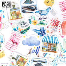 45 Stks/doos Leven Toerisme Briefpapier Sticker Kawaii Dagboek Handgemaakte Zelfklevend Papier Vlok Japan Sticker Scrapbooking Briefpapier(China)