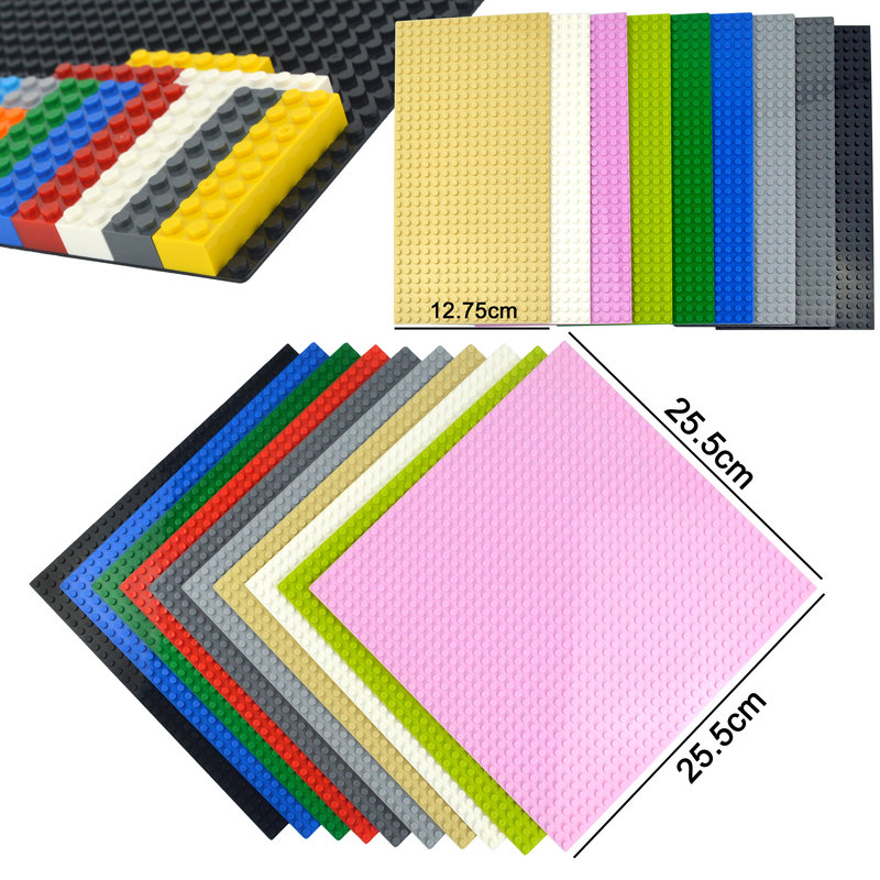 Classic Base Plates 32*32 32*16 Dots Assembly Bricks Baseplate City Street Road Plate Compatible All Brands Building Blocks