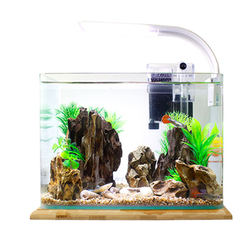 Lazy Self-cleaning Self-circulation Ecological Aquarium Small Desktop Living Room Household Rectangular Landscaping Set