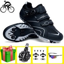 цена Self-locking Cycling Shoes Men Sapatilha Ciclismo Mtb Breathable Racing Mountain Bike Professional Bicycle Sneakers Sports Shoes онлайн в 2017 году