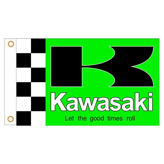 Флаг Jemony для гоночных мотоциклов Kawasaki, 90*150 см