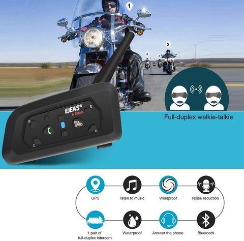 ejeas v6 pro 1200m intercomunicador para motocicleta