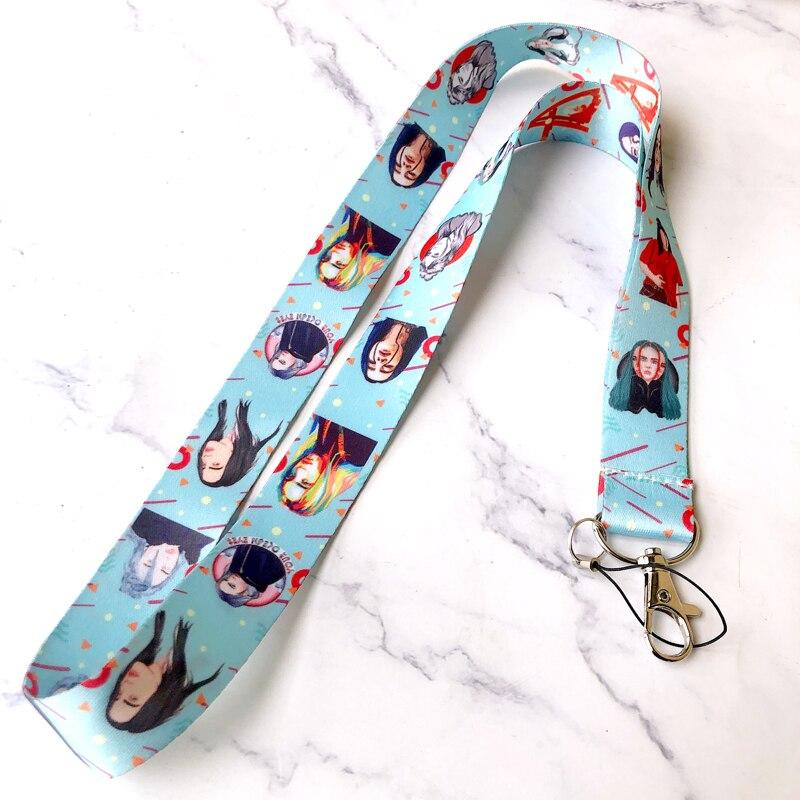 Billie Eilish Strap Neck Straps Lanyards For Keys ID Card Pass Gym Mobile Phone USB Badge Holder DIY Hang Rope Sling