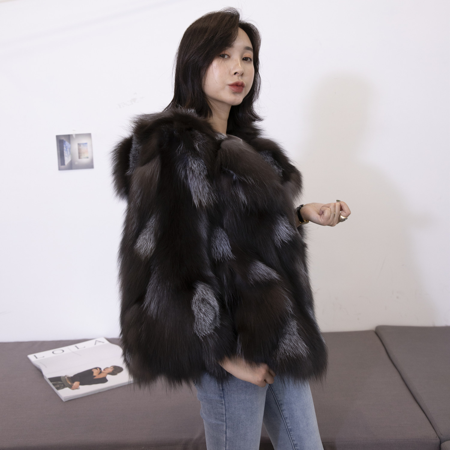 Fox Real Fur Coat Winter Jacket Women Hooded Luxury Fur Coats And Jackets Women Clothes 2020 Chaqueta Mujer MY3659 S S