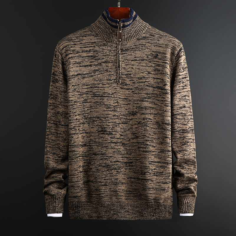 2019 New Fashion Brand Sweater Men's Pullover Half Zip Pullover Slim Fit Jumpers Knit Autumn Korean Style Casual Mens Clothes