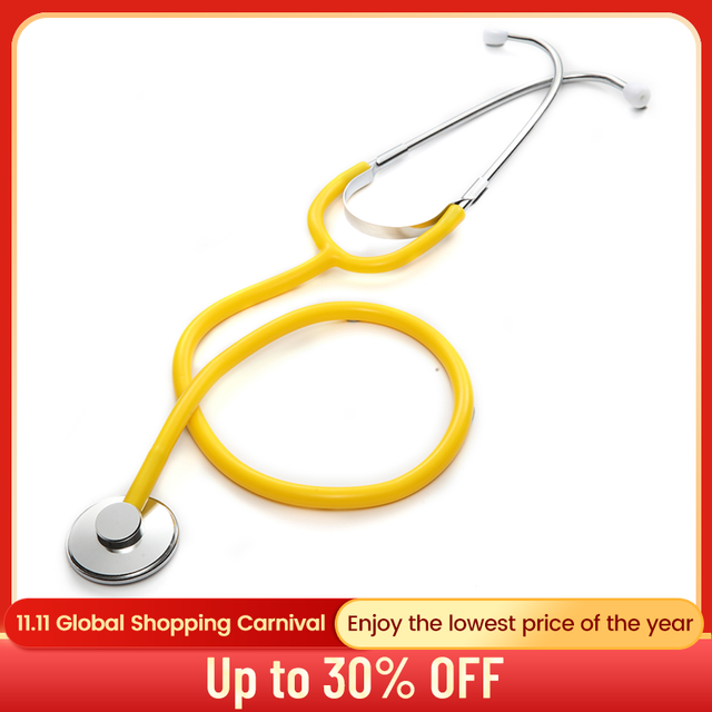 Professional Stethoscope Single Head Cardiology Stethoscope Doctor Portable Medical Equipment Medical Student Vet Nurse Device