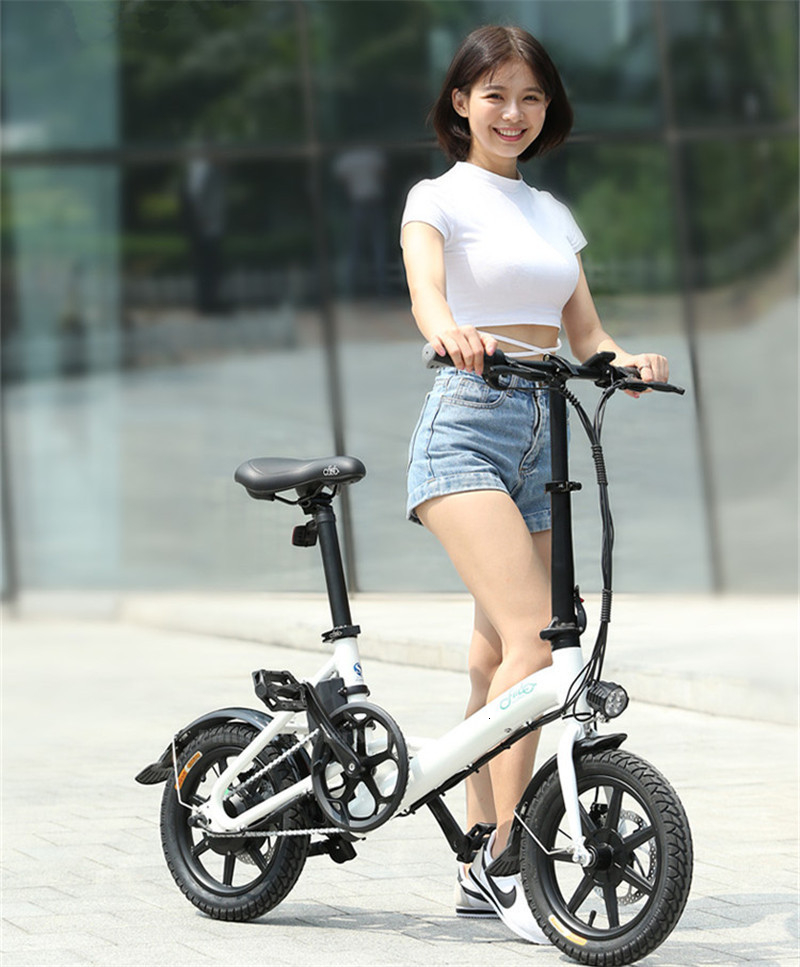Fiido D3 Mini Electric Bike Two Wheels Electric Scooters 14 Inch 36V 250W Adults Portable Foldable Electric Bicycle With Seat    (4)