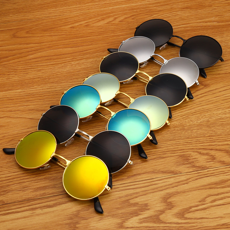 Unisex Fashion Round Metal Frame Sunglasses Retro Classic Prince Mirror Circle Round Sunglasses With 7 Style For Men Women